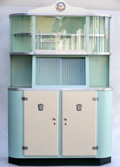 GORGEOUS vintage metal kitchen cabinet! Love Love This....