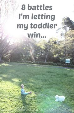 On picking toddler battles and making age appropriate compromises. #parenting #toddlers ~ Danya Banya