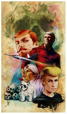 Jonny Quest (1964–1965) | A boy accompanies his father on extraordinary adventures | Artwork by Cat Staggs [©2014]
