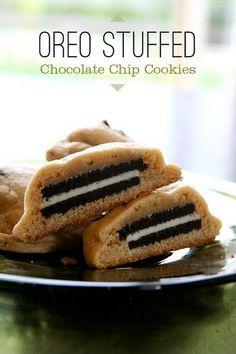 oreo stuffed chocolate chip cookies (best cookie ever!)
