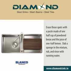 Sinks are the workhorses of your #kitchen they see a lot of action,so keeping them clean should be high on your list.