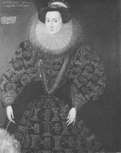 Francis Clinton, Lady Chandros by Hieronimo Custodis, 1589. Print and solid