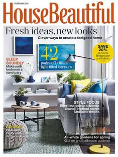 House Beautiful House Beautiful brings you inspiration and advice to help you live beautifully. From practical decorating and colour scheming tips, to those special details that make all the difference, we'll help you make the perfect home. House Beautiful, Beautiful Bedrooms, Beautiful Homes, Shop Price, Colour Schemes, Country Style, Room Inspiration, Feel Good, February