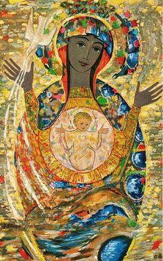 Madre de todos los tiempos / Mother of all times - notice a smiling Jesus in the belly!