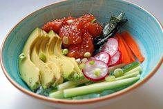 pokebowl met zalm en avocado