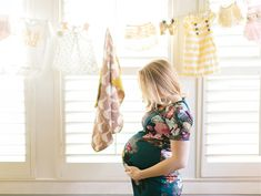 Have the mom-to-be hang all of her favorite new baby clothes on a clothesline for decor: http://www.stylemepretty.com/living/2015/08/09/25-ingenious-baby-shower-ideas/
