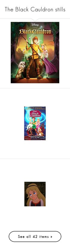 """""""The Black Cauldron stills"""" by blood-red-queen ❤ liked on Polyvore featuring disney, the black cauldron, backgrounds, black cauldron and eilonwy"""