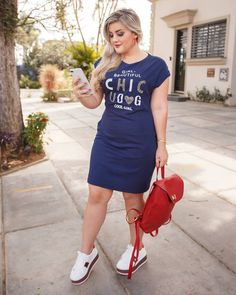 Super Sport Chic Feminino Plus Size Ideas Curvy Women Fashion, I Love Fashion, Girl Fashion, Fashion Dresses, Girly Outfits, Casual Outfits, Summer Outfits, Cute Outfits, Sport Chic