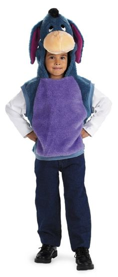 Boys Disney Costumes - Eeyore Vest Costume includes: plush vest with matching attached character hood. Piglet Costume, Winnie The Pooh Costume, Winnie The Pooh Themes, Marvel Halloween Costumes, Toddler Halloween Costumes, Disney Costumes, Halloween Stuff, Toddler Boy Costumes, Girl Costumes