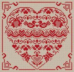 ♥ Korsstygns-Arkivet ♥: Alla Hjärtans Dagen är snart här.