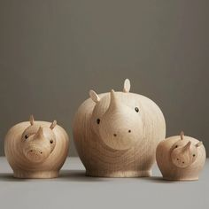 Woud Rina captures the nature of rhinos in a simple and lovable sculpture made from solid oak. The expression of the rhinoceros can change as the House Doctor, Wooden Decor, Rustic Decor, Plywood Furniture, Simple Wood Carving, Danish Design Store, Wooden Figurines, Secret Box, Rhinoceros