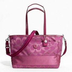 Coach Signature Stripe Diaper Baby Bag Multifunctional Tote Pink F19422 New with Tag ..., http://www.amazon.ca/dp/B00BKPWQLA/ref=cm_sw_r_pi_awd_0NKKsb07C5R3R