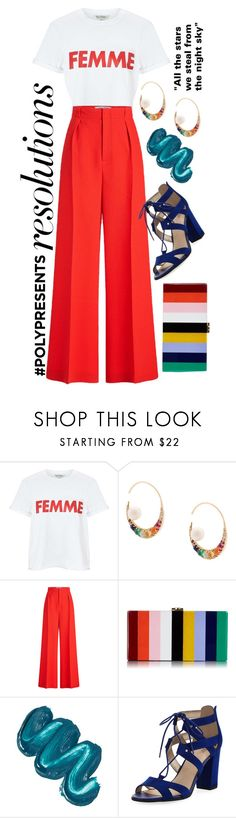 """""""#PolyPresents: New Year's Resolutions"""" by k-mur10 ❤ liked on Polyvore featuring Miss Selfridge, Noor Fares, Roland Mouret, Milly, Mermaid Salon, Circus by Sam Edelman, contestentry and polyPresents"""