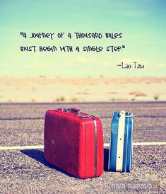 a journey of a thousand miles must begin with a ... | Travel Quotes on We Heart It