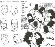 Alex Toth's designs for Hanna-Barbera Productions' Space Ghost, as scanned from the Alex Toth By Design collection, which was put together by the artist and Darrell McNeil.