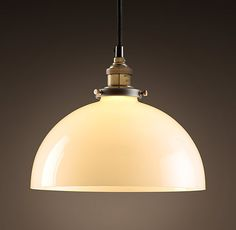 Glass Dome Filament Pendant | Utility Pendants | Restoration Hardware Over sink in kitchen, polished nickel, clear glass