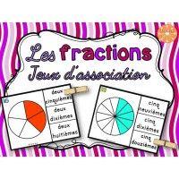 Les fractions - jeu d'association #1