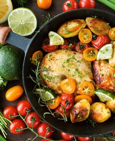 This succulent chicken recipe is packed with antioxidants and takes just 20 minutes to prep. #easter #recipes #holidays #dinner #chicken