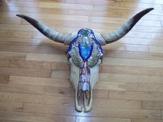 Mosaic Cow Skull.