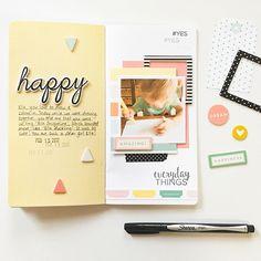 Everyday Moments Traveler's Notebook Spread by Mandy Melville | @FelicityJane