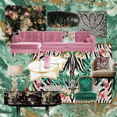 Chinoiserie, Go Wallpaper, Black Cushions, Glass Top Coffee Table, Fireplace Wall, Mood Boards, Decoration, Sweet Home, Design Inspiration