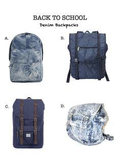 Editor's Choice – Denim Backpacks