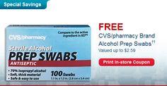FREE Box of Alcohol Pads CVS Coupon!