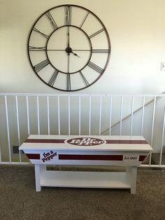 Dr Pepper bench I made.