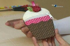 ARTE COM QUIANE - Paps,Moldes,E.V.A,Feltro,Costuras,Fofuchas 3D: Moedeiro Cupcake