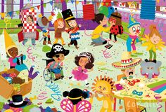 Coralie Vallageas Holiday Activities, Preschool Activities, Children's Book Illustration, Illustrations, Hidden Pictures Printables, Tree Costume, Baby Park, Writing Pictures, Rainbow Crafts