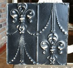 Antique Ceiling Tile  12 x 12   Distressed by VINTAGEHOMEACCENTS