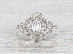 .31 Carat Edwardian Engagement Ring