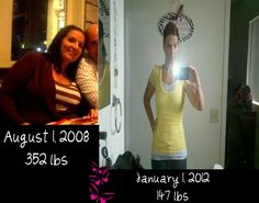 Before and After- Down 205 lbs... ( I recently gained 10 :( ) Weight Watchers and exercise!