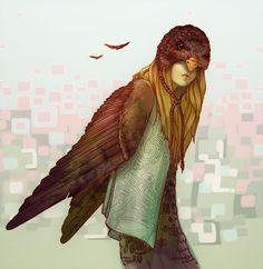 Bird Girl by ggatz.deviantart.com