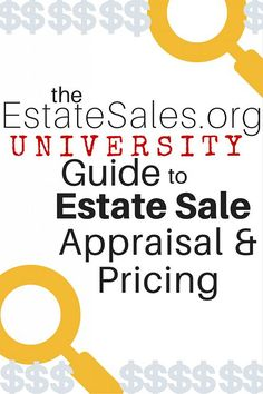 Your go-to guide to estate sale appraisal and pricing resources. Find out what your finds are worth, including antiques, coins, collectibles, and more. Garage Sale Pricing, Garage Sale Tips, Window Display Retail, Retail Displays, Shop Displays, Jewelry Displays, Merchandising Displays, Window Displays, Estate Sale Signs