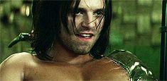 He looks so seductive right here || Bucky Barnes || The Winter Soldier || Sebastian Stan