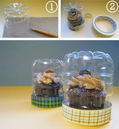The bottom half of a bottle can morph into a handy case for delicate cupcakes. Use this DIY to tote treats to and from work or give you kiddo an extra special surprise at lunch. Get the tutorial at Paper, Plate, and Plane »  - GoodHousekeeping.com