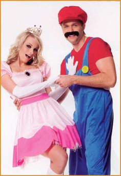 mario bros halloween costume. i would so do this with a guy!