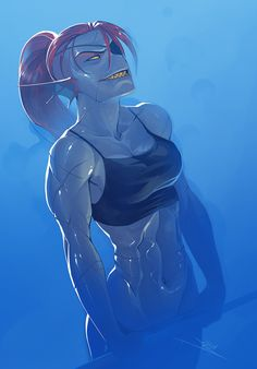 Official Post from vashperado: undyne from undertale~ such a cool character! Video Game Characters, Female Characters, Undyne Fanart, Undyne Cosplay, Fan Art, Character Art, Character Design, Toby Fox, Undertale Comic