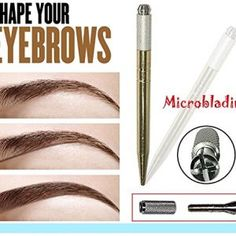 Pinkiou-Microblading-tattoo-machine-for-permanent-makeup-eyebrow-tattoo-manual-pen-with-needle-blade-0-1