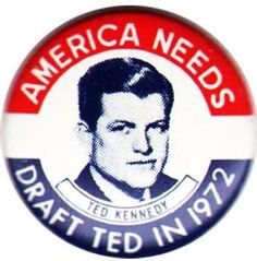 JFK Campaign Buttons | Ted Kennedy for U.S. Senate 1964 Campaign Tie Clip in shape of Mass. $ ...