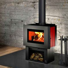 Osburn SOHO Wood Stove Standing Pedestal Small Modern Wood Fireplace for sale online Antique Wood Stove, How To Antique Wood, Wood Stoves For Sale, Refractory Brick, Small Stove, Wood Fuel, Stove Fireplace, Wood Fireplace, Modern