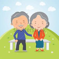 Resultado de imagem para idosos sentados banco jardim