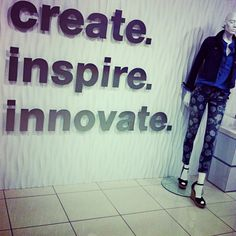 Create something that's innovative to inspire others' creativity. Making changes in the world, one idea at a time.