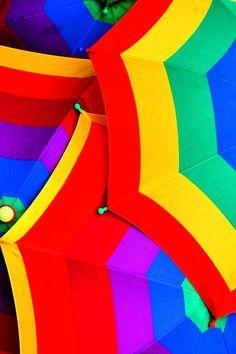 Umbrellas - Photograph, attribution unknown, from Asavari's board.