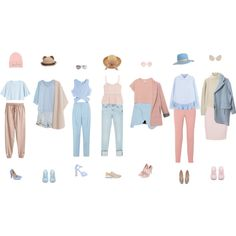 Pink and Beige and Blue by everysimpleplan on Polyvore featuring мода, Clu, Proenza Schouler, Monki, Steve J & Yoni P, Jonathan Simkhai, MANGO, H&M, Zara and Paul Smith