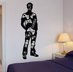 Wall Decal Gamer Video Game Teen Play Boys Room Vinyl Stickers (ig2611)