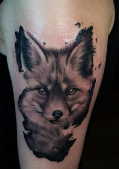Fox tattoo meaning: what does a fox tattoo hide in itself? Family Tattoos, New Tattoos, Tatoos, Zorro Tattoo, I Tattoo, Tattoo Sketches, Art Sketches, Fox Tattoo Meaning, Fuchs Tattoo