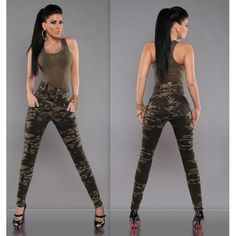 2017 New Fashion Women Camouflage Pants High Waist Slim Sexy Trousers Sports Suit Camo Outfits, Crop Top Outfits, Hot Outfits, Girl Outfits, Casual Outfits, Beach Outfits, Mode Des Leggings, Leggings Are Not Pants, Army Clothes