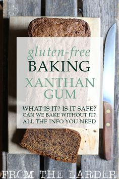 What is Xanthan Gum? Is it safe? How you can bake gluten-free without it? Everything you need to know about this controversial ingredient Gluten Free Bread Brands, Gluten Free Flour, Gluten Free Cakes, Gluten Free Baking, Dairy Free, Paleo Baking, Lactose Free, Baking Basics, Baking Tips